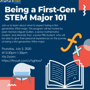 Being a First-Gen STEM Major 101