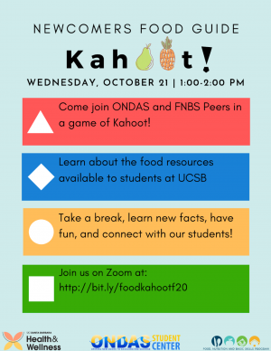 Newcomers Food Guide Kahoot!