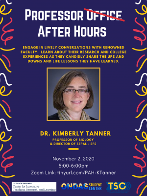 Professor After Hours: Dr. Kimberly Tanner