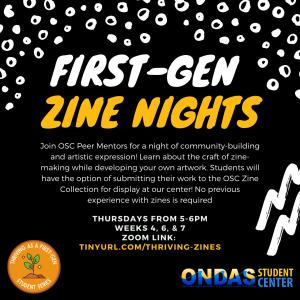 Thriving as a First-Gen Student Series: Zine Hour!