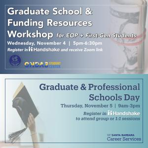 Graduate School and Funding Resources for EOP + First-Gen Students