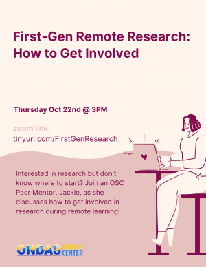 First-Gen Remote Research: How to Get Involved Interested in research but don't know where to start?