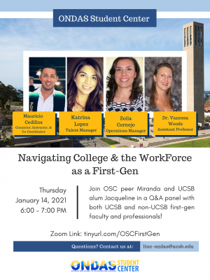 Navigating College and the WorkForce as a First-Gen