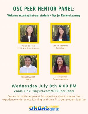 OSC Peer Mentor Panel
