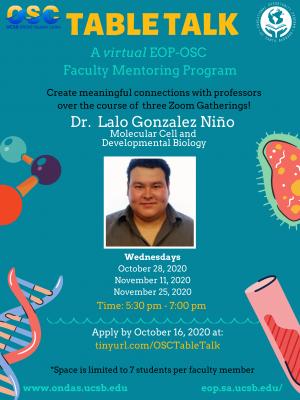 Table Talk with Dr. Lalo Gonzalez Niño