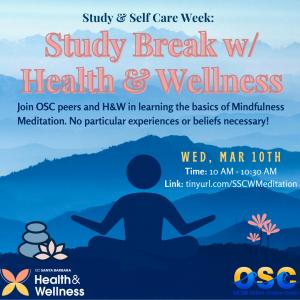 Study Break with UCSB'S Health & Wellness