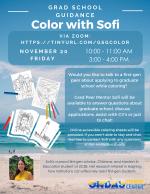 Grad School Guidance: Color with Sofi