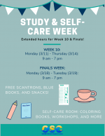 Study and self-care week flyer