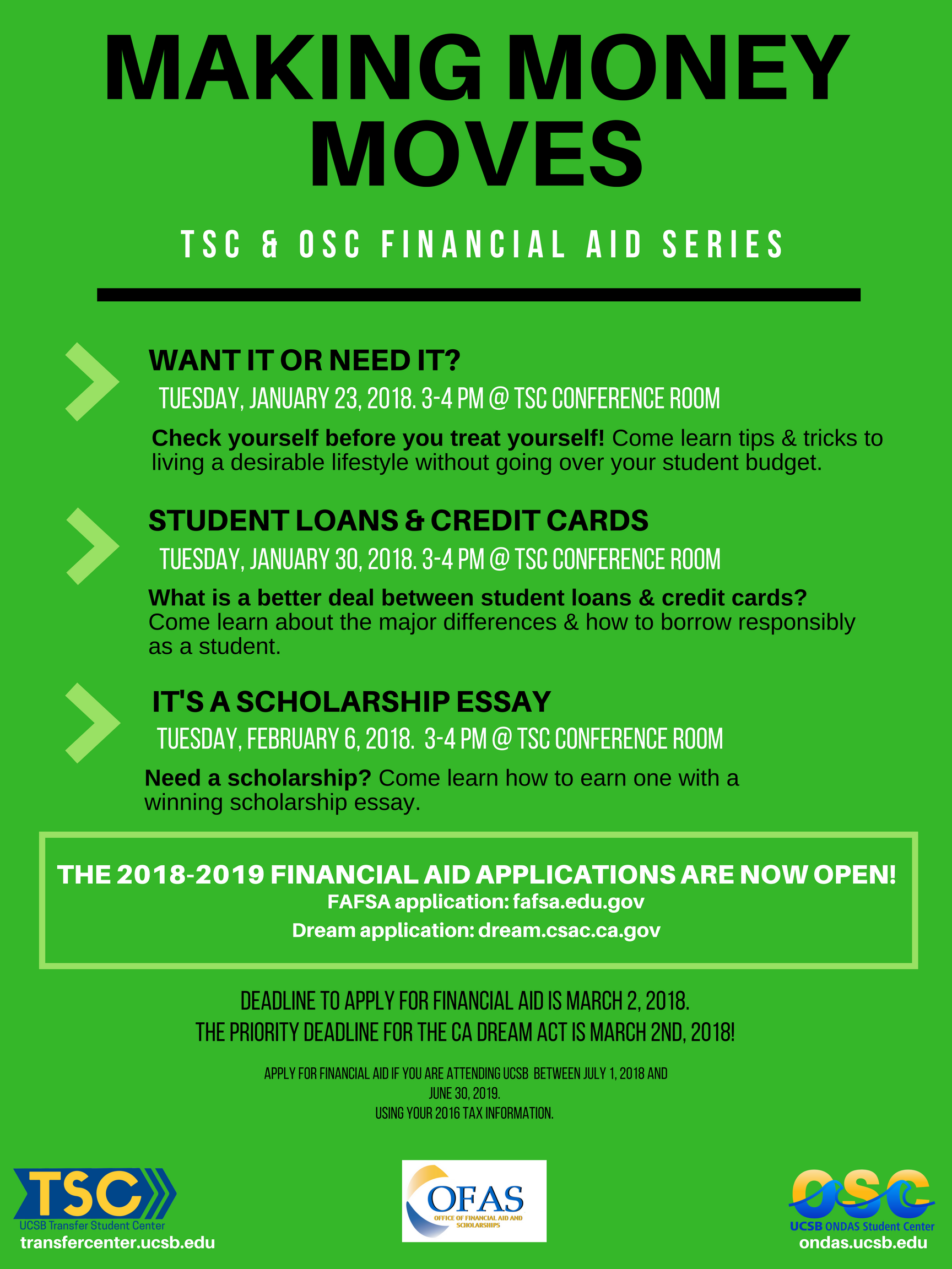 financial aid series making money moves ondas student center  it s a scholarship essay need a scholarship come learn how to earn one a winning scholarship essay