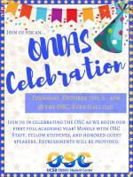 ONDAS Celebration flyer